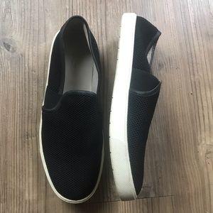 Vince Woven Slip On Sneakers in Black